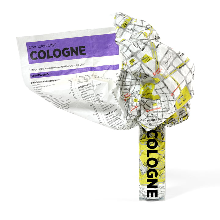 Palomar - Crumpled City Map - Cologne