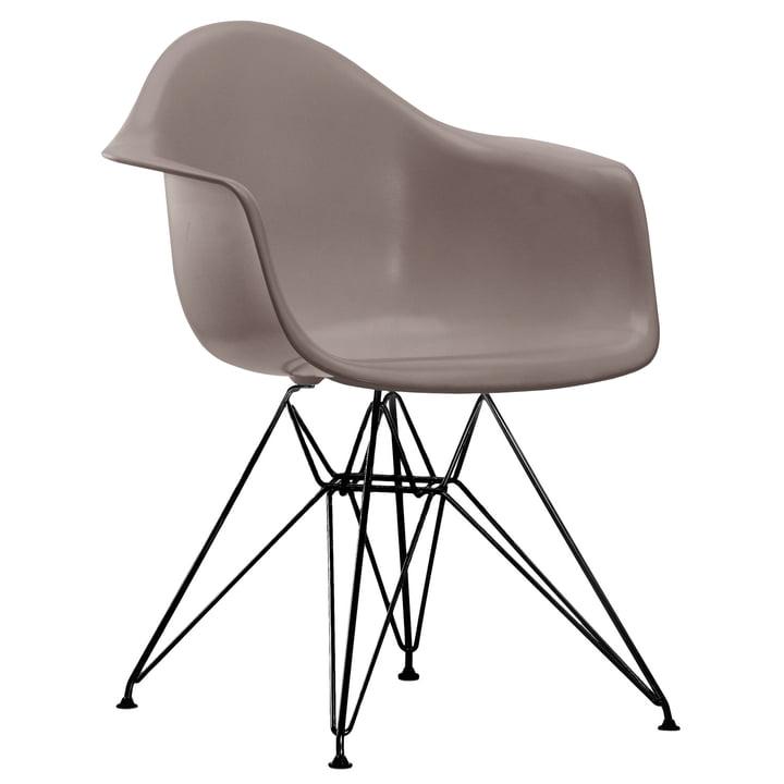 Vitra - Eames Plastic Armchair DAR, powder-coated / mauve grey, felt glides black