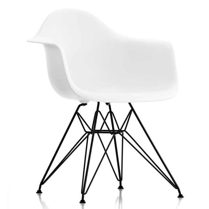 Eames Plastic Armchair DAR by Vitra in basic dark / white