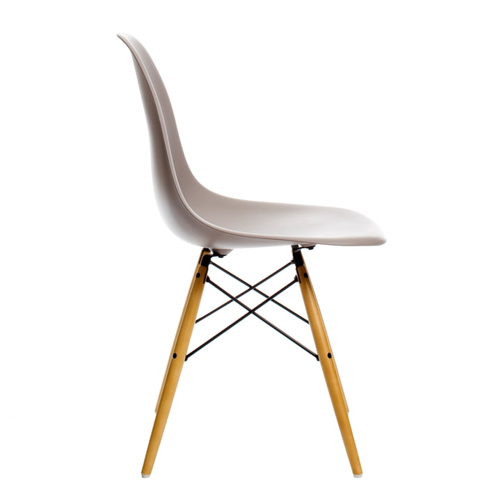 Vitra - Eames Plastic Side Chair DSW, yellowish maple / mauve grey
