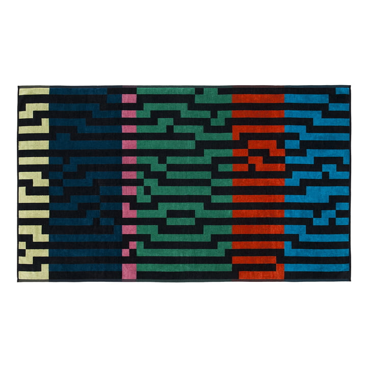 Multicolour Waves Beach Towel , 100 × 180 cm