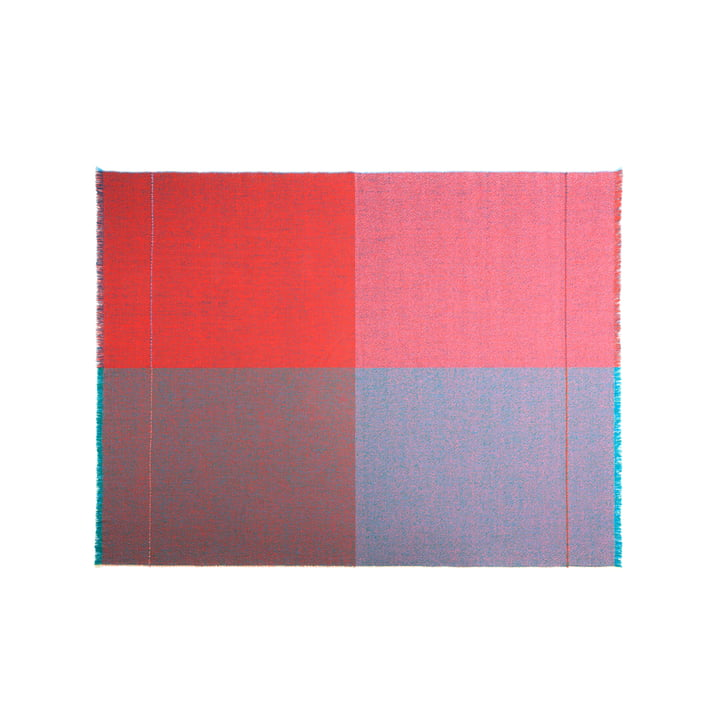 Zuzunaga - Quaternio Red Throw, 140 × 180 cm