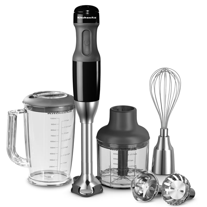 KitchenAid - Hand blender with 5 speed levels, onyx black