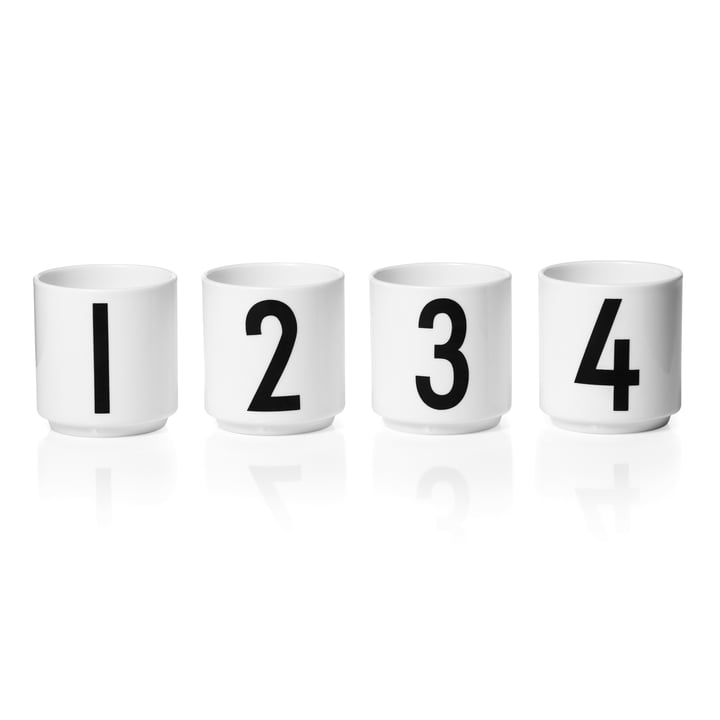 Design Letters - Porcelain Mini Cup (Set of 4)