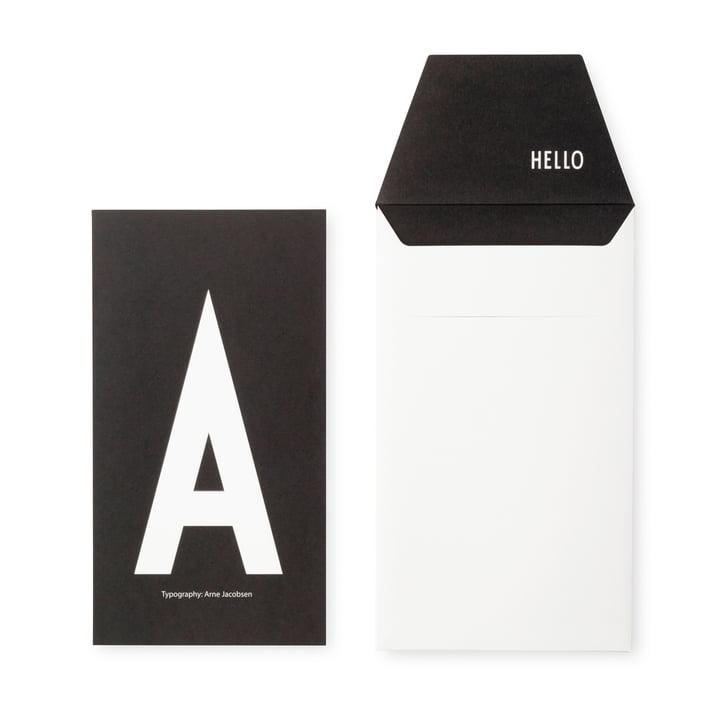 Design Letters - AJ Postcard A