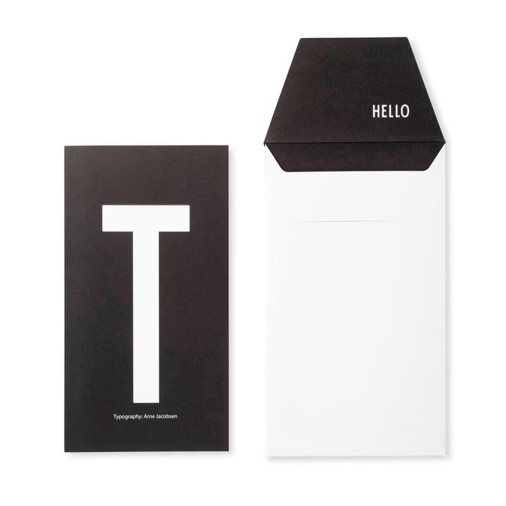 Design Letters - AJ Postcard T