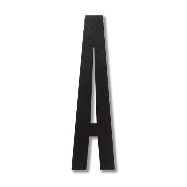 Wooden Letters Indoor A by Design Letters in Black