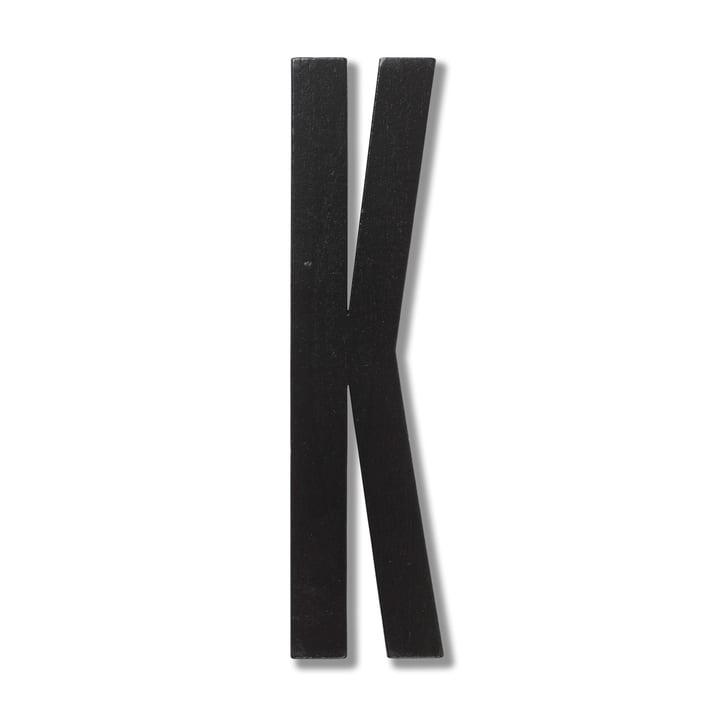 Wooden Letters Indoor K by Design Letters in Black