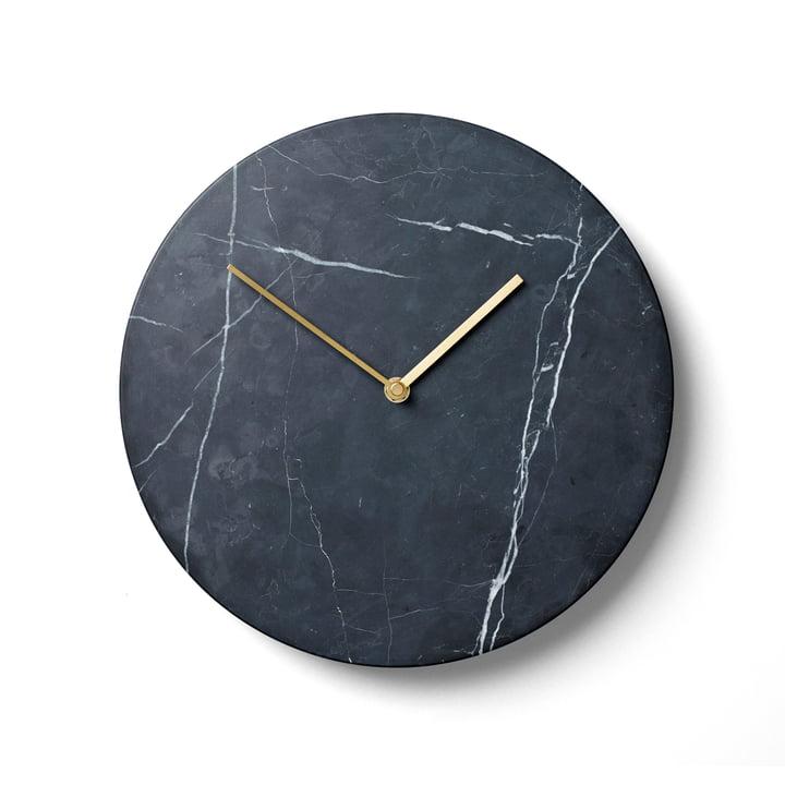 Menu - Marble Wall Clock, black