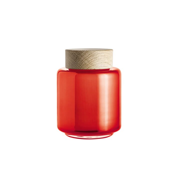 Holmegaard - Palet storage jar in orange for 0.35 l