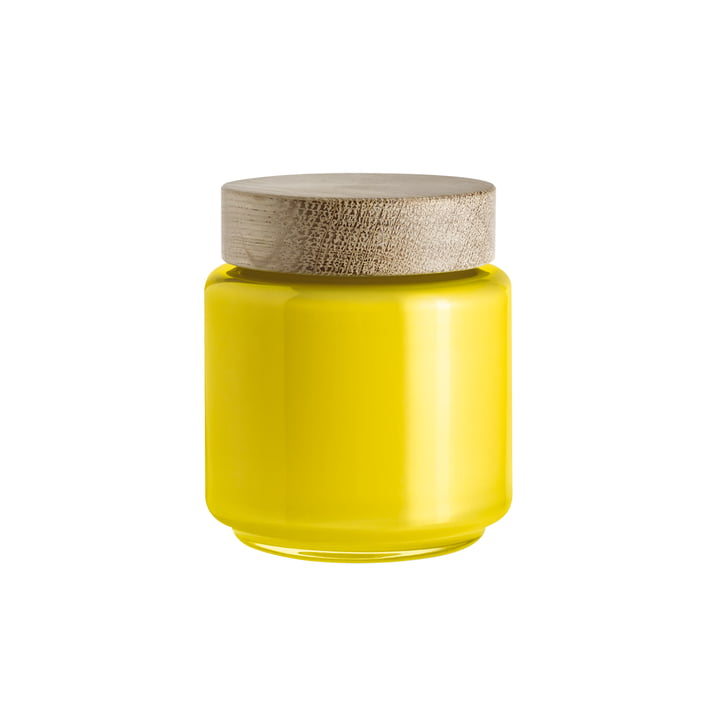 Holmegaard - Palet storage jar in yellow for 0.5 l