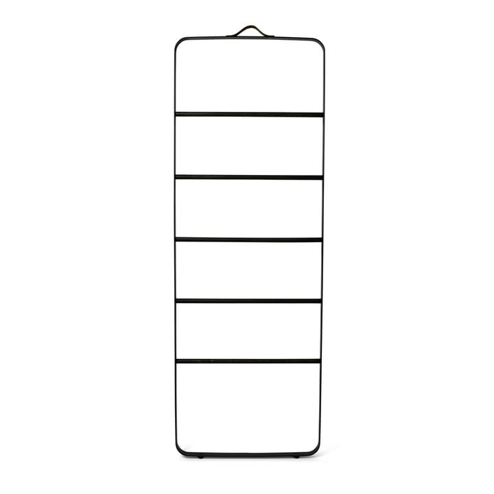 Menu - Towel Ladder, black / dark oak