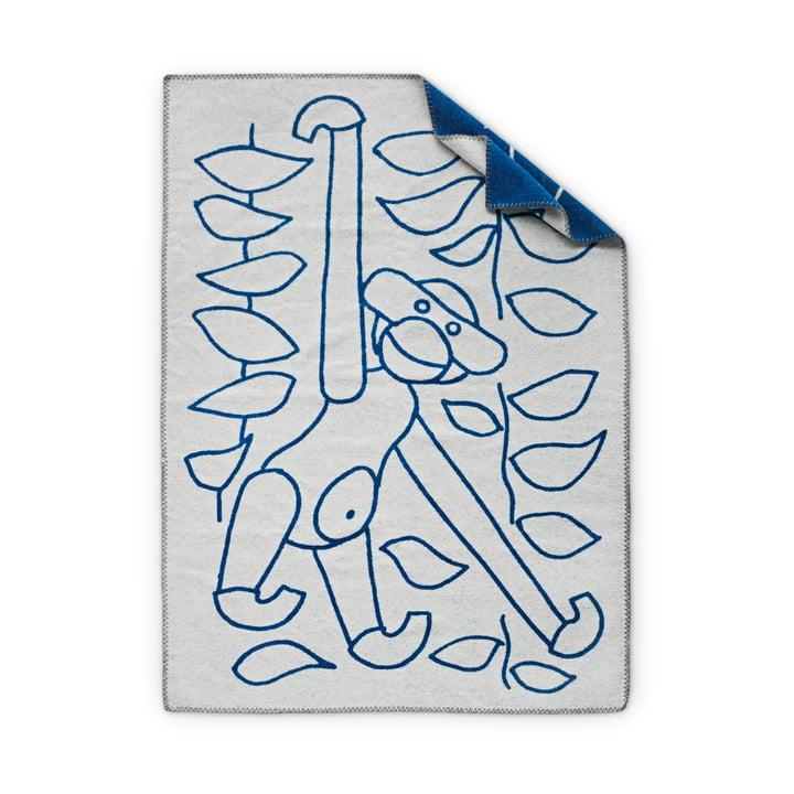 Back of the children's blankets by Kay Bojesen in blue