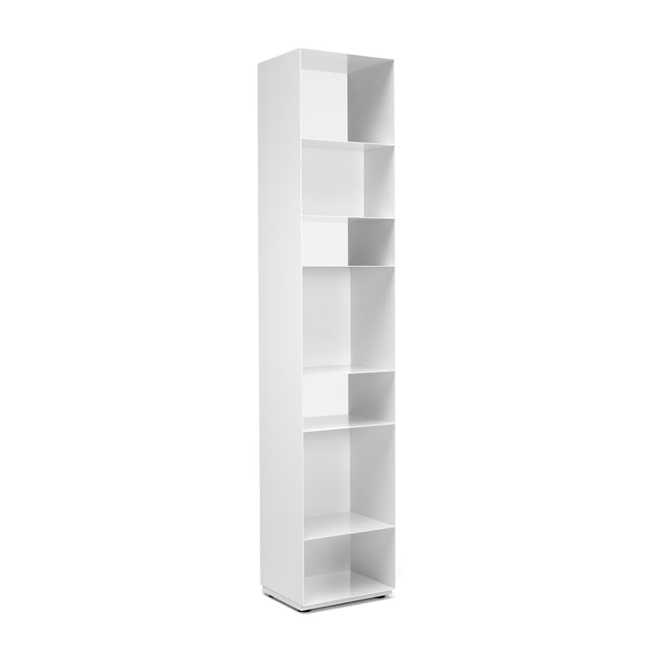 Unit 1 Shelf vertical from Müller Möbelfabrikation in satin matt signal white (RAL 9003)