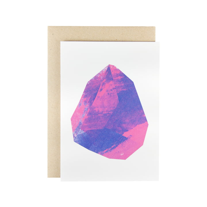 Karte - Make Like Paper greeting card in magenta