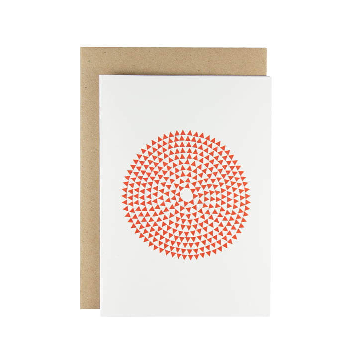 Karte - Murmurs greeting card in red