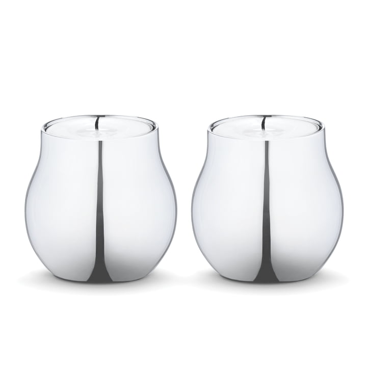 Georg Jensen - Cafu Tealight Stainless Steel (set of 2)