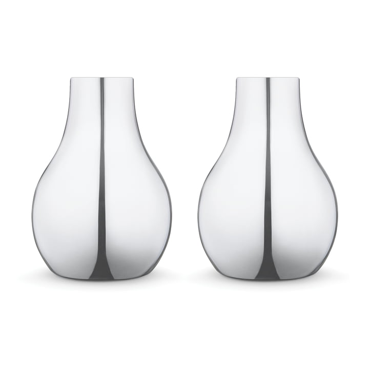 Georg Jensen - Cafu Candleholder Ø 55 mm, stainless steel (set of 2)