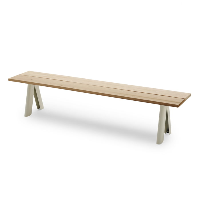 Overlap Bench by Skagerak in silver white