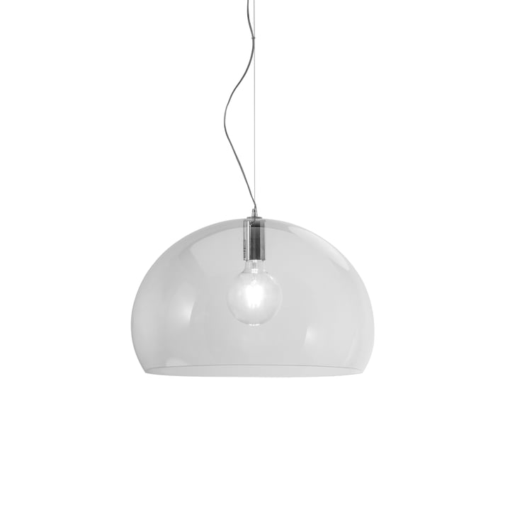 Small FL/Y pendant lamp by Kartell in transparent