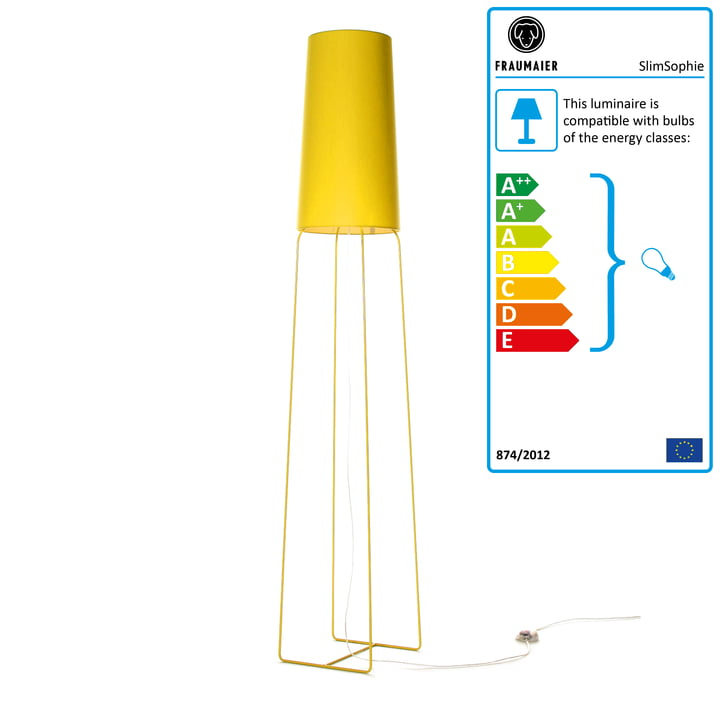 Slimsophie floor lamp by frauMaier in yellow