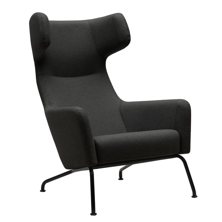 Softline - Havana Armchair, frame black / vision dark grey (439)