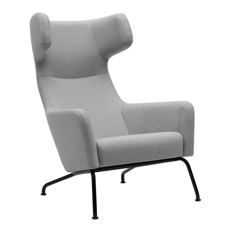 Softline - Havana Armchair, frame black / felt light grey (620)
