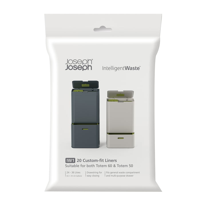 Trash bags for the Totem waste system by Joseph Joseph (20 units)