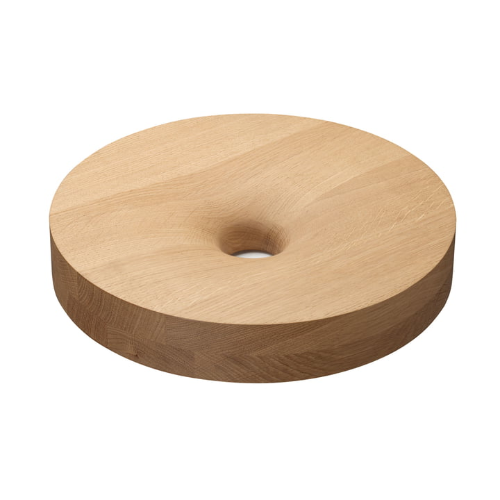 e15 - AC09 Turn Fruit Bowl made of waxed oak
