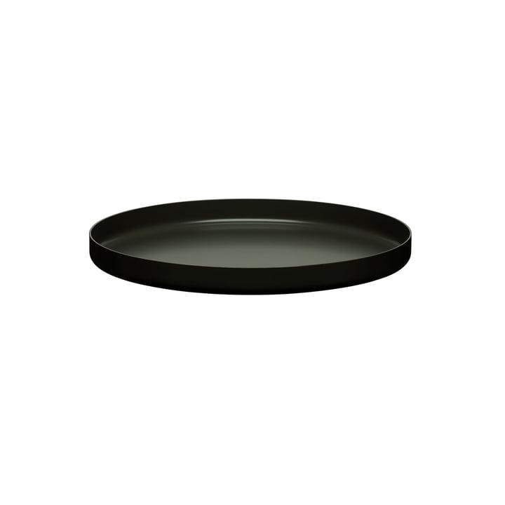 e15 - CM05 Habibi Tray Ø 30 cm, jet black
