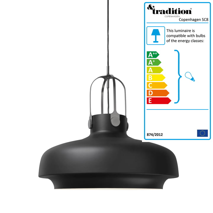 &Tradition - Copenhagen SC8 Pendant Lamp, matte black