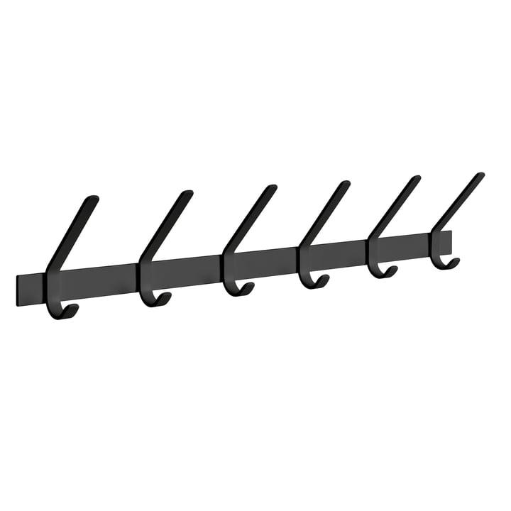 e15 - FK08 Uni coat rack L 85 cm in jet black