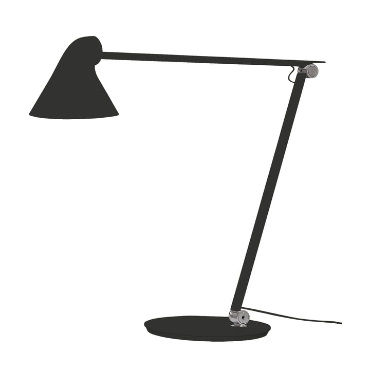 Louis Poulsen - NJP table lamp with stand in black