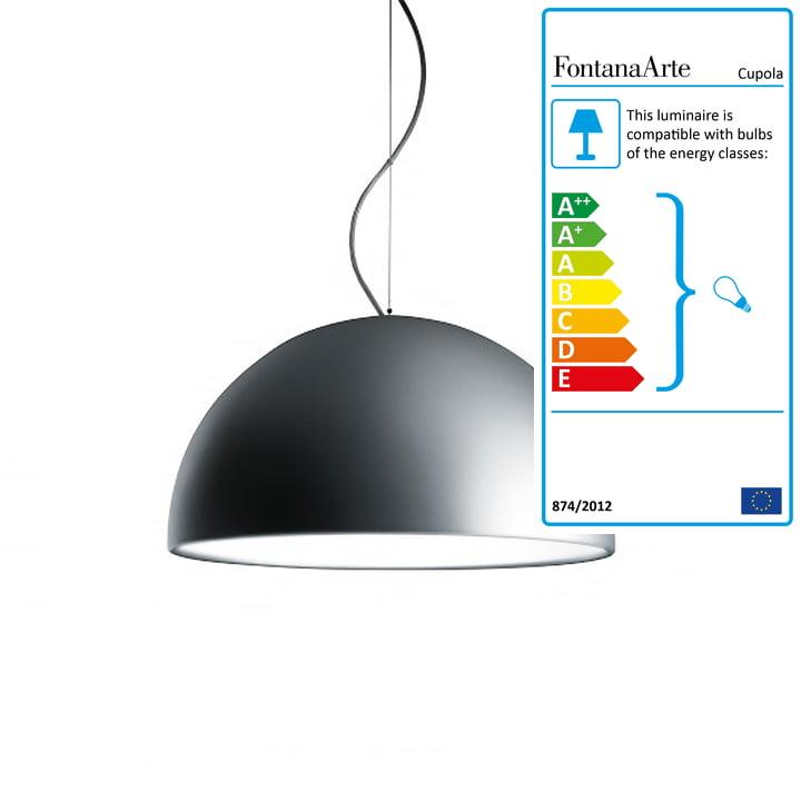 Cupola Pendant Lamp Ø 40 cm by FontanaArte