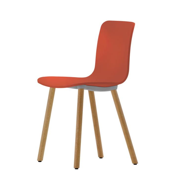 Vitra - Hal Wood Chair, brick / light oak, felt pads