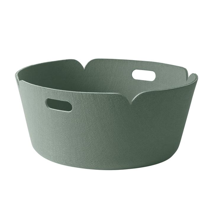 Muuto - Restore Round Basket, green