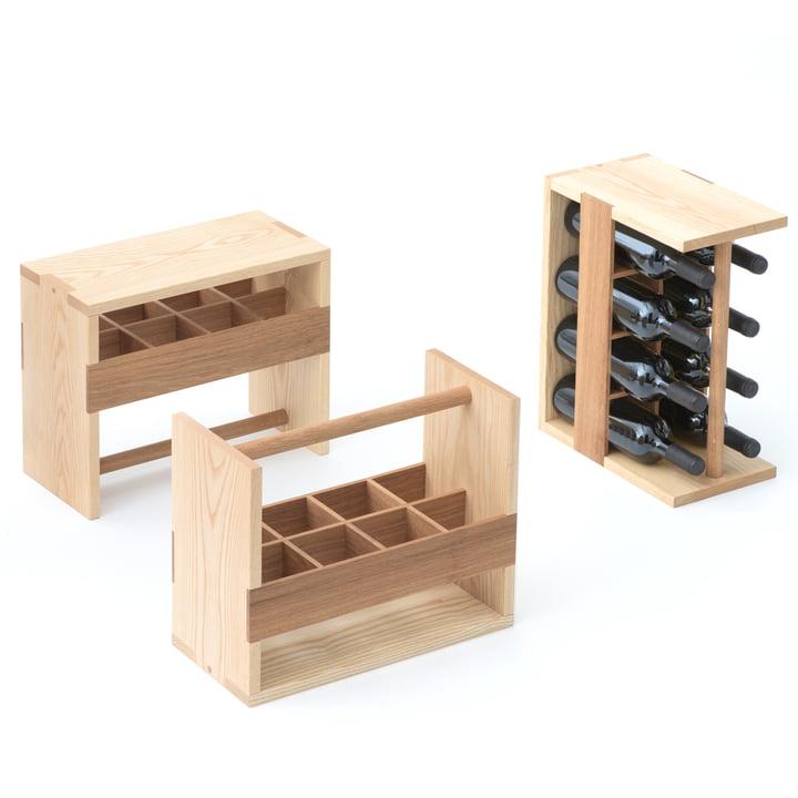 Auerberg - Bottle-Box, ash / oak
