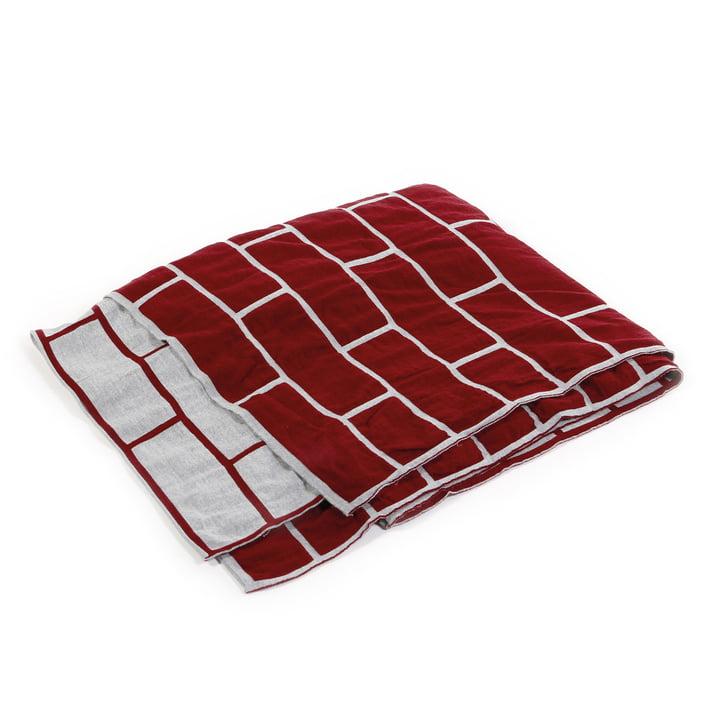 Pulpo - brick blanket, ruby red / light grey