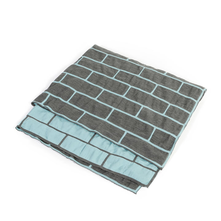 Pulpo - brick blanket, celeste blue / smoke grey