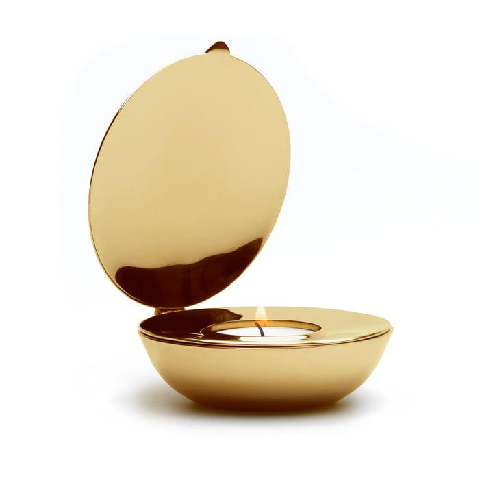 Design House Stockholm - Shell Tealight Holder in brass