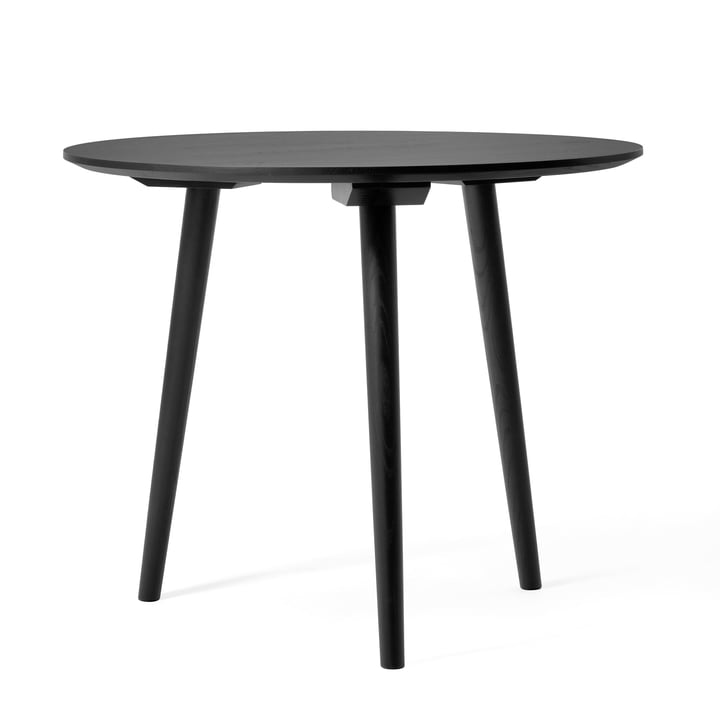 In Between table SK3 Ø 90 by &Tradition in stained black oak (RAL 9005)
