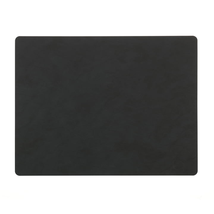 Table Mat Square L 35 x 45 cm by LindDNA in Nupo black