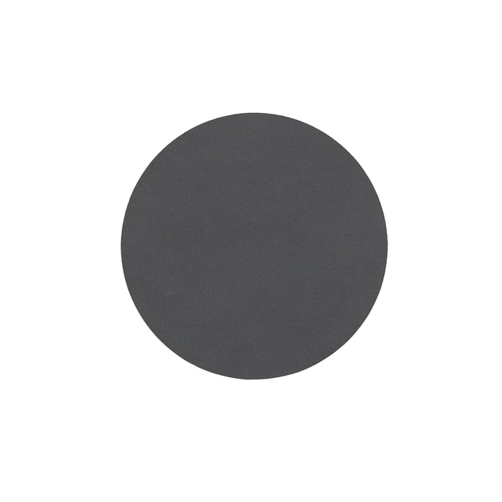 Glass coaster round Ø 10 cm from LindDNA in Nupo anthracite