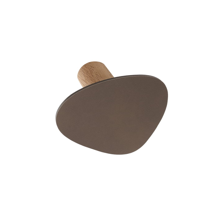 LindDNA - Wall Dots wall hooks S in Nupo brown