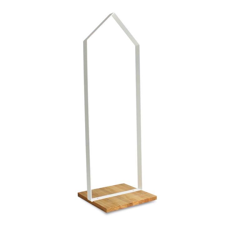 Design im Dorf - Wooden hut, white frame