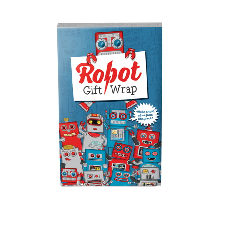Robot gift wrap by Luckies