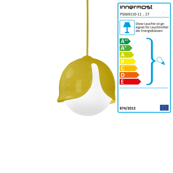 Snowdrop pendant lamp by innermost in yellow