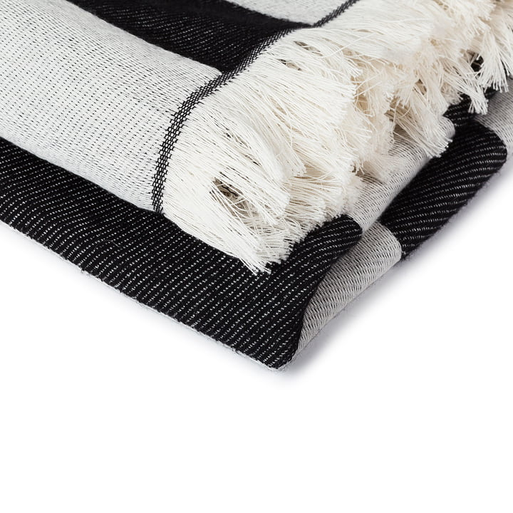 Marimekko cotton blanket with fringes