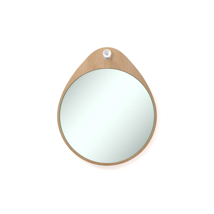 Rizz - The Egg mirror in cedar wood