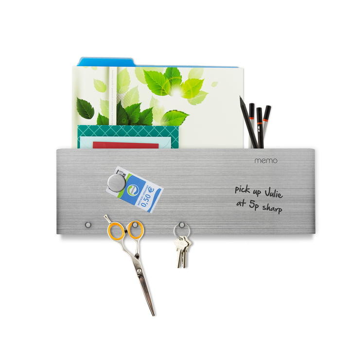 Printable magnetic Board with letter shelf and hooks